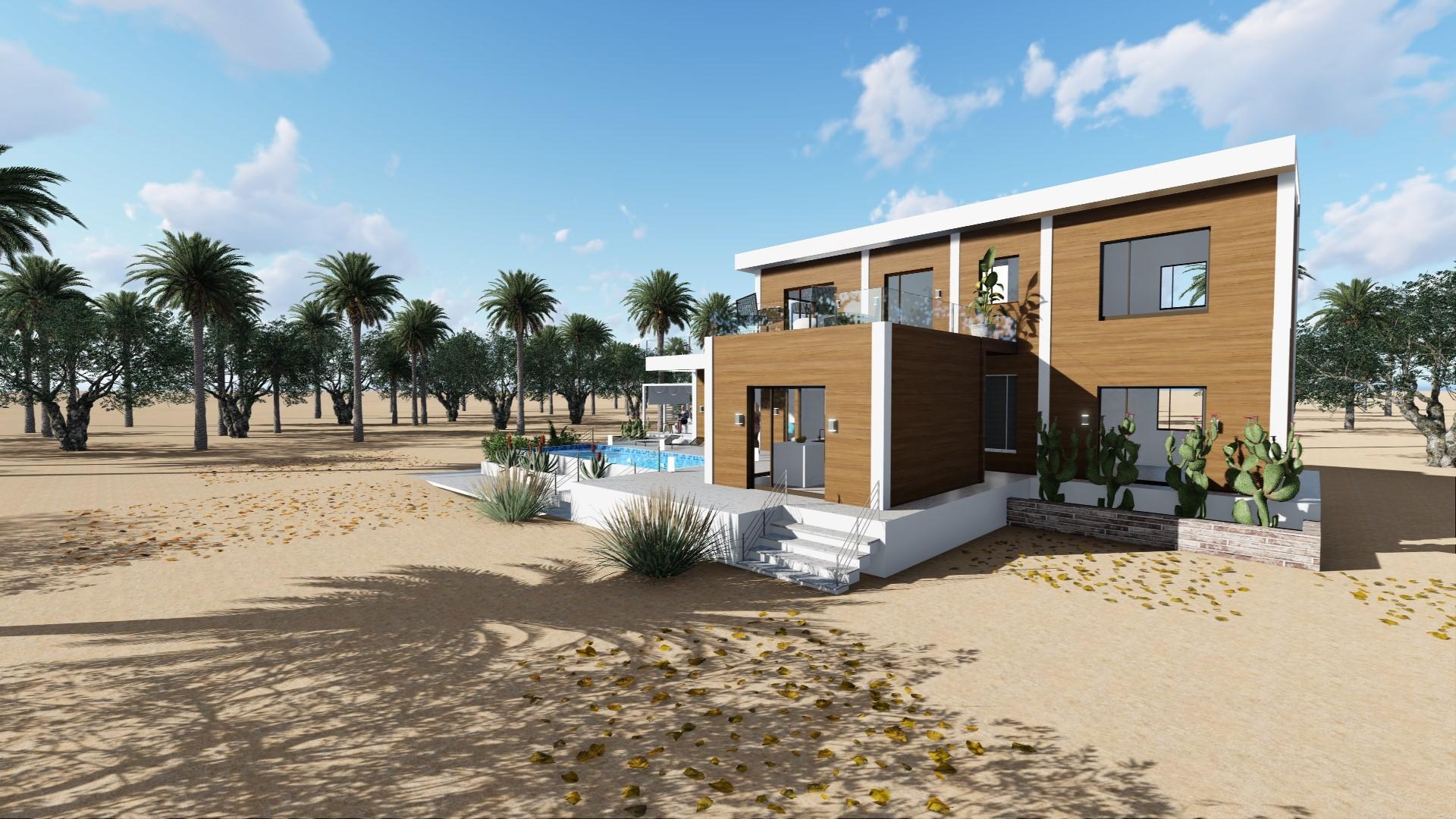 3D ritning av hus