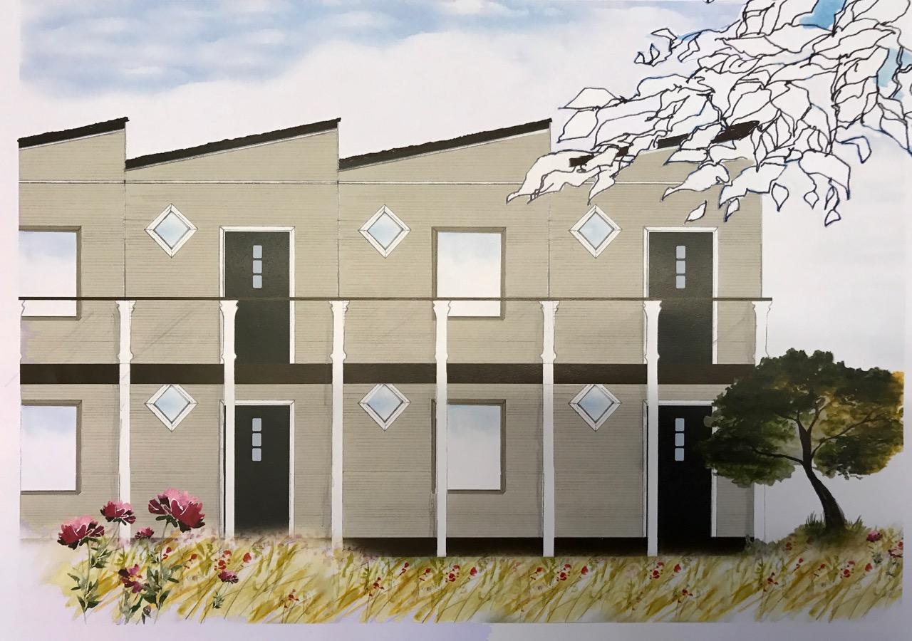 Bild flerfamiljshus